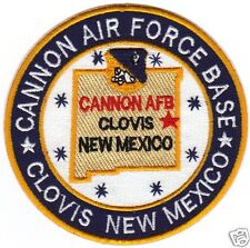 USAF BASE PATCH,CANNON AIR FORCE BASE, CLOVIS, NEW MEXICO                      Y