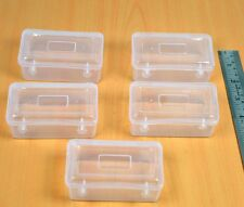 5PC LOT SMALL PLASTIC CLEAR TRANSPARENT STORAGE COLLECTION CONTAINER BOX CASE