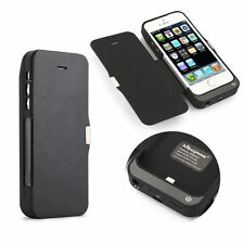 For iPhone 5 5S 5C 7000mAh External Battery Charger Case Power Pack with Flip