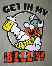 Get In My Belly! Hagar The Horrible Comic Strip Drinking Beer T-Shirt New Sz SM