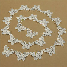 1Pc Hollow Butterfly Lace Ribbon Applique Sewing Wedding Home Room Crafts DIY