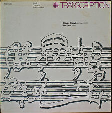 STEVEN STARYK, VIOLIN-NM1975LP Radio Canada International Transcription Series