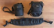 Lowepro Toploader 70 AW with S&F Deluxe Waistbelt 9 and Lenscase 4s.