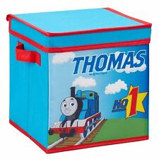 NEW THOMAS AND FRIENDS TANK TRAIN COLLAPSIBLE STORAGE CUBE TOY BOX W LID 17X17