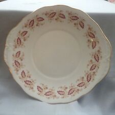 Queen Anne bone china (Shore and Coggins) red leaf pattern cake plate