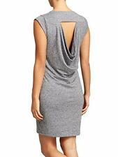 Athleta  - M - NWOT - Gray Draping Open Back -Linen Jersey Knit Charisma Dress