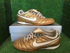 NIKE TIEMPO Indoor R10 RONALDINHO GOLD T90 CTR360 SOCCER SHOES RARE 8,5 7,5 42