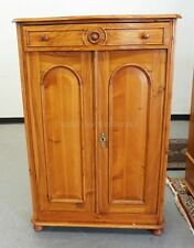 PINE CABINET WITH 2 DOORS AND A DRAWER. DOORS HAVE ARCHED PANELS, DR... Lot 1183