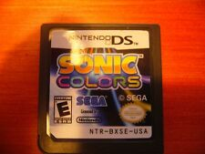 Sonic Colors Nintendo DS plays in 2DS 3DS XL Lite System