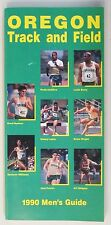 1990 OREGON Track and Field press book media guide MEN'S and WOMEN'S