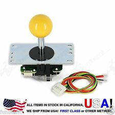 Sanwa Original Japan Arcade Joystick JLF-TP-8YT with Yellow Ball Top stick mod