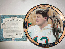 BRADFORD EXCHANGE DAN MARINO LIMITED EDITION HAND SIGNED 4967 COMPLETIONS PLATE
