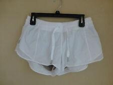 Lululemon Hotty Hot Short White WHT Speed Turbo Yoga Shorts Mesh Size 12