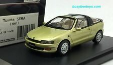 1/43 HI STORY HS144YE TOYOTA SERA 1991 GREENISH YELLOW MICA scale model car