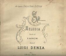 Spartito Ricordi Se...Melodia per Canto e Pianoforte di Luigi Denza 1909