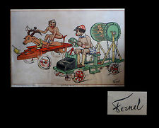 [BELGIQUE - CARICATURE] FERNEL (Fernand) - Automobile [in Les Sports au Congo].
