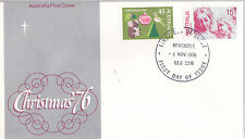 1976 Christmas FDC - Newcastle NSW 2300 PMK