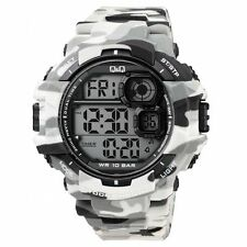 Original New Q&Q M146J005Y By Citizen Gray Camouflage Sport Mens Watch WR 10 Bar