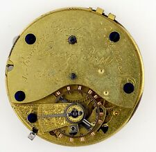 GEORGE JUST LONDON ENGLISH LEVER GOING BARREL POCKETWATCH MOVEMENT SPARES Q45