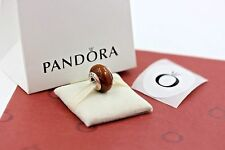 Genuine Pandora Muirapirango Wood Sterling Silver Bead 790703 w/box as shown