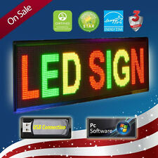 "4 Lines 20"" x 40"" LED SIGN * PC * PROGRAMMABLE SCROLLING MESSAGE BOARD TRI COLOR"