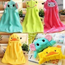 Baby Face Washers Hand Towels Soft Plush Cartoon Kids Hanging Wipe Wash Clothes