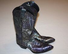 Tony Lama (1130) Metallic Electric Multi-Color Cowboy Western Boots Women 6.5 M
