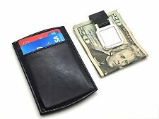 Men's Leather Wallet Credit Card ID Holder And Money Clip