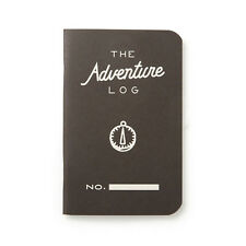 "Pack of 3 Word Notebooks, Pocket Size, 3.5"" x 5.5"", Adventure Log, Black"