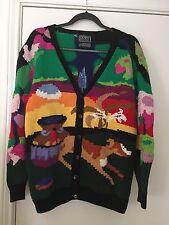 """Vintage BEREK /Marta D """" Island"""" Sweater Cardigan Hand Knit Uruguay 1989 M-L"""