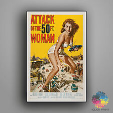 Attack of the 50 Foot Woman Framed A3 Poster