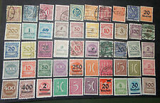 Germany- used/mh- Inflationary Period- 50 stamps- G-214