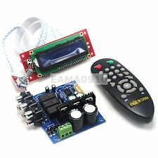 PGA2311 LCD Volume Remote Control Preamp for 3 Channel Input Preamplifier Board
