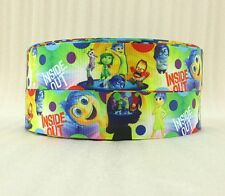"BTY 1"" Adorable Disney INSIDE OUT Grosgrain Ribbon Hair Bows Cakes Lanyard Lisa"