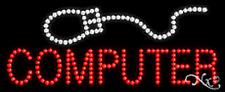 """NEW """"COMPUTER"""" 27x11 W/LOGO SOLID/ANIMATED LED SIGN W/CUSTOM OPTIONS 20043"""