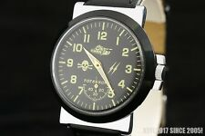 Vintage military WAR2 WW2 style pilots watch OLD stock Totenkopf Tank