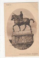 Italy, Padova, Monumento al Generale Gattamelta Postcard, A999