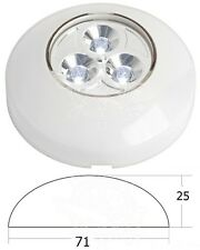 Osculati White 3 LEDs Courtesy Light Self Adhesive with Pressure ON Switch