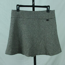 Gap Tweed Skirt 4 Small Wool Blend Flared A Line Mini Black White Pink Gray Suit