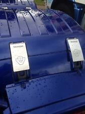 V8 cubre Correa Scania Acero Inoxidable Grabado Con El Logotipo 4 Inc Acero Inoxidable Fijaciones