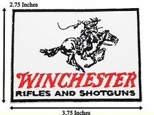 Winchester Rifle Shotgun Logo Badge Embroidered Band Patches Iron On Sewing