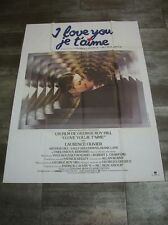 I LOVE YOU, JE T'AIME Diane Lane 1979 Affiche Originale 120x160 Movie Poster
