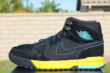NIKE AIR JORDAN 1 TREK SZ 11 BLACK GAMMA BLUE VARSITY MAIZE YELLOW 616344 089