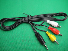 1/8 3.5mm jack to 3RCA Video Audio Stereo AV Cable For IPOD IPHONE Output To TV
