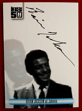 The avengers 50th-brian jackson comme johnnie-black ink autographe carte avbj