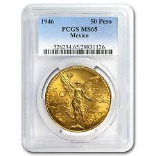 1946 Mexico Gold 50 Pesos MS-65 PCGS - SKU #83854