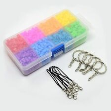 1100pc/box Perler Fun Fusion Hama Fuse Beads Refills with Key Chain Mobile Strap