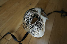 Venetian GOLD,SILVER,CREAM,BLACK Phantom/Half face Mask.Masquerade/Ball/Prom.