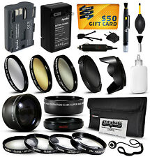 Battery Charger Accessories 58mm Filters fr Canon EOS 1D 5D 20D 30D 40D 50D 300D