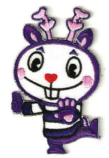 """2X3"""" purple MIME roe deer Happy Tree Friends EMBROIDERED IRON ON SEW ON PATCH"""